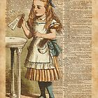 "Alice in The Wonderland ""Drink Me"" Colour Vintage Illustration Dictionary Art  by DictionaryArt"