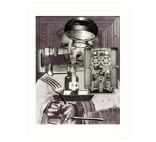 Scientist Waiting to Eat a Meal. Art Print
