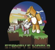 Mr Stampy cat and dogs at sunset by ladyjiles