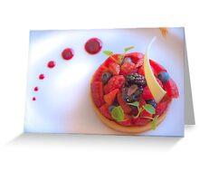 red fruit dessert Greeting Card