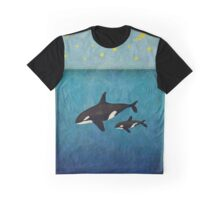 Whales at night Graphic T-Shirt