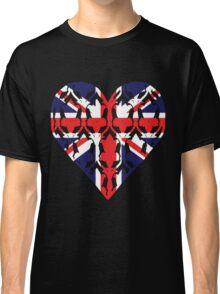 Union Jack Sherlock Wallpaper Heart Classic T-Shirt