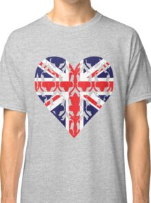 Union Jack Sherlock Wallpaper Heart Classic T-Shirt