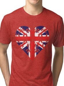 Union Jack Sherlock Wallpaper Heart Tri-blend T-Shirt