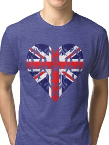 Union Jack Sherlock Wallpaper Heart Tri-blend T-Shirt