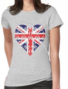 Union Jack Sherlock Wallpaper Heart Womens Fitted T-Shirt