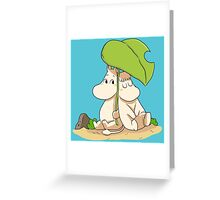 The moomins drawing Greeting Card