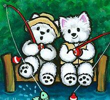 Fishing Buddies by Shelly  Mundel