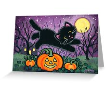 Jumping Pumpkins Greeting Card