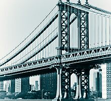 New York Manhattan Bridge Vintage by Daisy Yeung