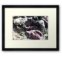 Bloody Waterfall Framed Print