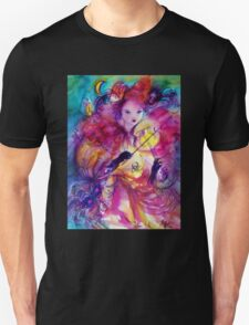 MASQUERADE NIGHT Carnival Musician in Pink Costume Unisex T-Shirt
