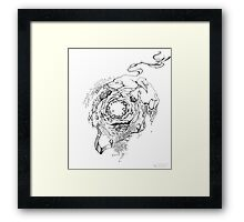 Hole in the Earth - Sketch Pen & Ink Illustration Framed Print