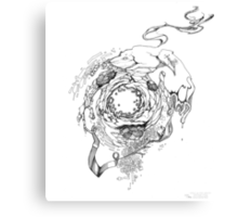 Hole in the Earth - Sketch Pen & Ink Illustration Canvas Print