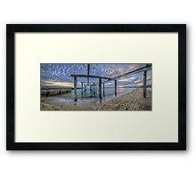 Boat Hoist Framed Print