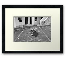 Motel Tv Framed Print
