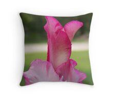 Gladiolus Bloom Throw Pillow