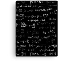Physics - handwritten Canvas Print