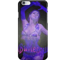 Female Strip Tease Artist Performing Blue Burlesque iPhone Case/Skin