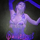 Female Strip Tease Artist Performing Blue Burlesque by taiche