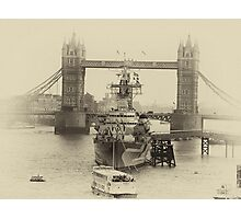 London bridge and the Royal Navy Photographic Print