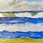 Wave at Bulli Beach by PamelaMeredith