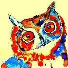 Carnivowl the Owl by curlyartcloud