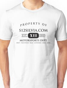 Property of S12Silvia.com Motorsports Dept. T-Shirt