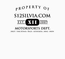 Property of S12Silvia.com Motorsports Dept. Unisex T-Shirt