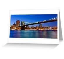 New York Brooklyn Bridge at Night Greeting Card