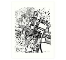 Arbitrary Milestones - Sketch Pen & Ink Illustration Art Print