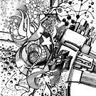 Arbitrary Milestones - Sketch Pen & Ink Illustration by jeffjag