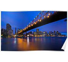 New York Ed Koch Queensboro Bridge at Night Poster