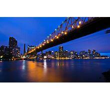 New York Ed Koch Queensboro Bridge at Night Photographic Print