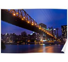 New York Ed Koch Queensboro Bridge at Night Too Poster