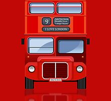 Old London Red Double Decker Bus iPad Case / iPhone 5 Case / iPhone 4 Case / Samsung Galaxy Cases  / Pillow / Tote Bag  by CroDesign