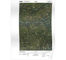 USGS Topo Map Washington State WA O'Took Prairie 20110418 TM Poster