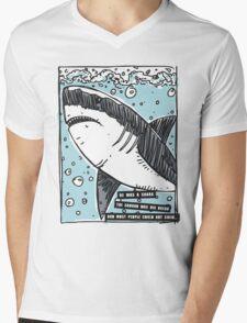 BJJ Shark Mens V-Neck T-Shirt