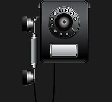 Retro Wall Rotary Dial Phone iPod / iPhone 5 Case / iPhone 4 Case  by CroDesign