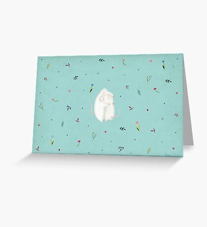 Mouse love Greeting Card
