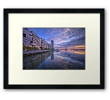Victoria Harbour Promenade Framed Print