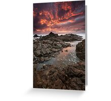 """Inferno"" ∞ Hastings Point, NSW - Australia Greeting Card"