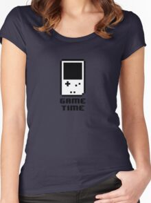 Game Time - 8-bit Style Women's Fitted Scoop T-Shirt