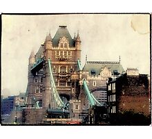 Antique View of the Tower Bridge, London Photographic Print