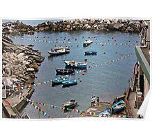 Marina di Riomaggiore, Five lands, Italy Poster
