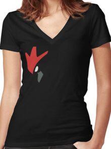 Scizor! Women's Fitted V-Neck T-Shirt