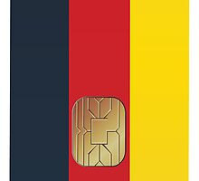 Smart Card Germany Flag iPod /  iPhone 5 Case / iPhone 4 Case  by CroDesign