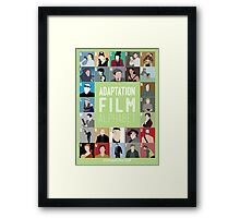 Adaptation Film Alphabet Framed Print