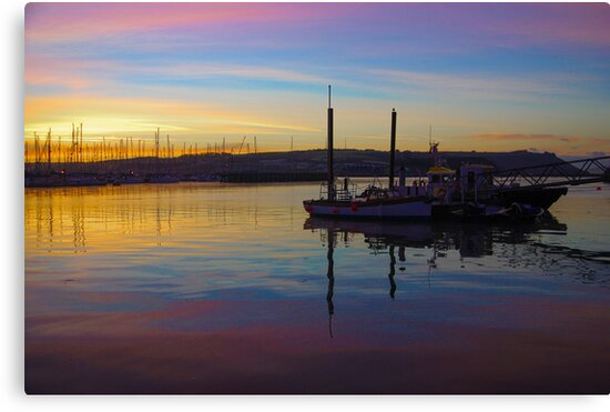 Sunrise Plymouth Barbican by DonDavisUK