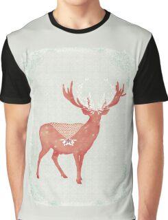 Christmas Stag Graphic T-Shirt